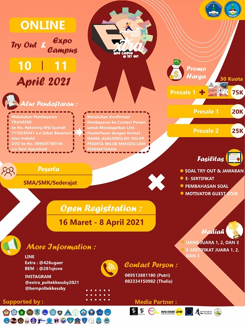 Expo Campus dan Try Out SIPENMARU 2021 | Politeknik ...